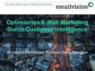 Optimiertes E-Mail-Marketing Durch Customer ... - Marketing on Tour
