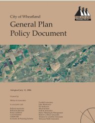 General Plan Policy Document (Adopted 7-11 ... - City of Wheatland