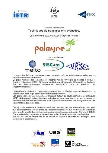 Journée thématique Techniques de transmissions ... - URSI-France