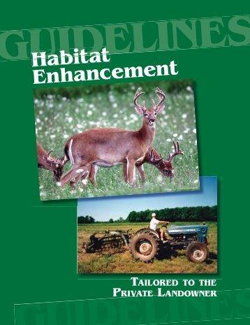 Habitat Enhancement Guidelines - Whitetails Unlimited