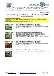 Veranstaltungen und Termine für Dezember 2010 - Berlin ...