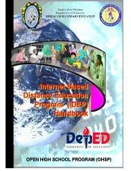 iDEP Handbook - Bureau of Secondary Education