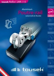 Poutre-rail Poutre-rail - tousek GmbH