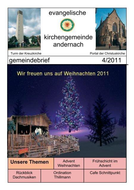 Gottesdienste an Weihnachten, Silvester, Neujahr 2011