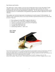 Dear Students and Parents... - Lake Stevens School District #4
