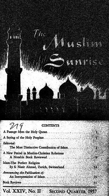 1957, II - The Muslim Sunrise