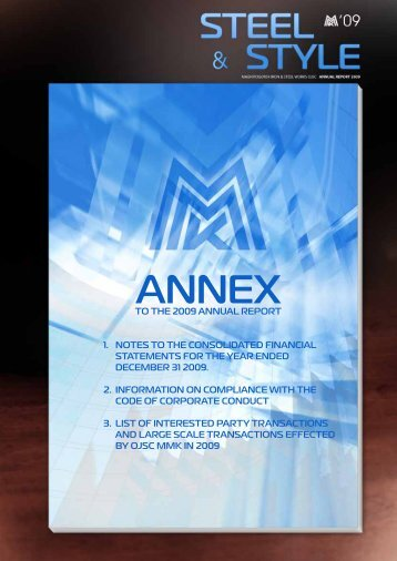Annex_to_the_2009_annual_report - Magnitogorsk Iron & Steel Works