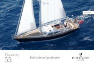 Full technical specification - Discovery Yachts