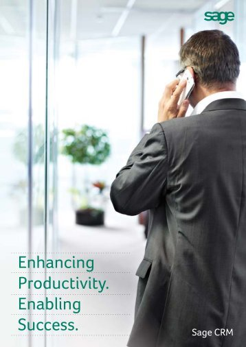Enhancing Productivity. Enabling Success. - Sage ERP