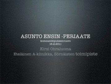 ASUNTO ENSIN -PERIAATE