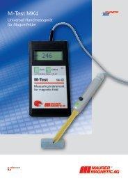 Teslameter M-Test Mk4 - Maurer Magnetic AG