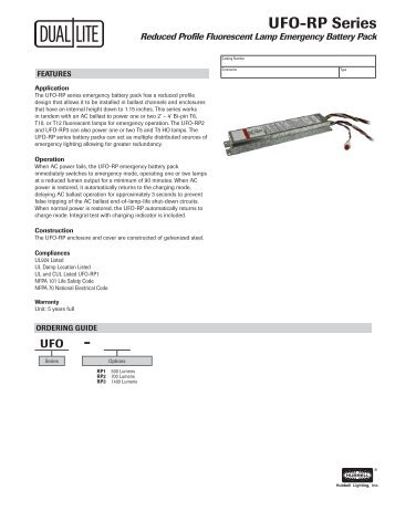 ufo rp series specification sheet dual lite?quality=85 wiring diagrams for 1 lam dual lite emergency ballast wiring diagram at alyssarenee.co