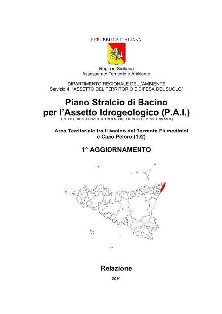 Piano Stralcio di Bacino per l'Assetto Idrogeologico (P.A.I.)