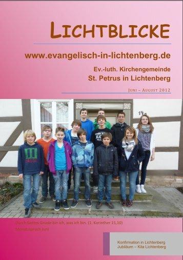 24 Gottesdienste und andere Treffpunkte - St. Petrus in SZ ...