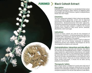 Black Cohosh Extract - Euromed