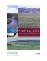 Sheridan County Land Use and Planning Survey Results - Wyoming ...