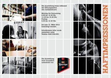 Ausstellung des VG und der JVA Gera im Justizzentrum