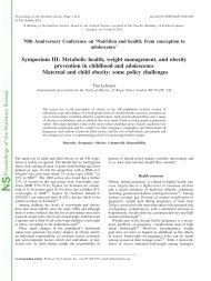 Symposium III: Metabolic health, weight management, and obesity