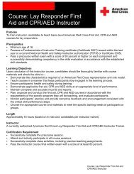 Course: Lay Responder First Aid and CPR/AED ... - KMC Red Cross