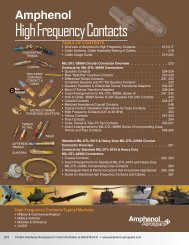 High Frequency Contacts for MIL-DTL-38999 - Amphenol Aerospace