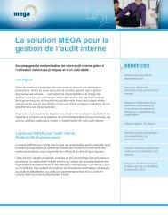 La solution MEGA pour la gestion de l'audit interne