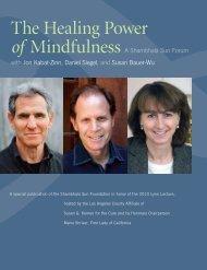 The Healing Power of Mindfulness - Upaya Zen Center