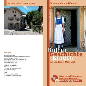 Brauch Kultur Geschichte - Katholisches Bildungswerk im Landkreis ...