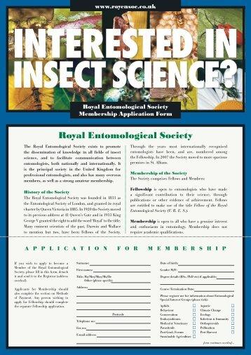 Membership application form (.pdf) - Royal Entomological Society