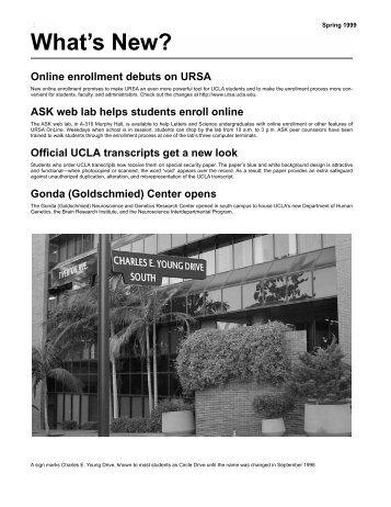 S - Registrar - UCLA