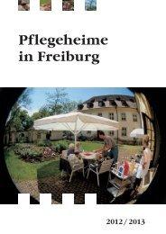 Pflegeheime in Freiburg 2012 / 2013 - Stadt Freiburg im Breisgau