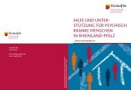 Hilfen für psychisch kranke Menschen in Rheinland-Pfalz