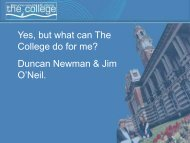 Yes, but what can The College do for me? - The Bournemouth ...