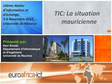 Le secteur des TIC mauricienne - EuroAfrica-ICT