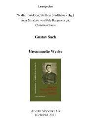 Gustav Sack Gesammelte Werke