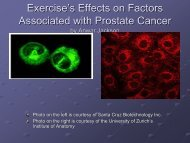 The Effects of Exercise on Factors Associated with Prostate Cancer