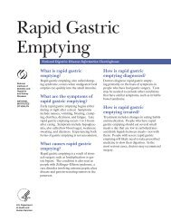 Rapid Gastric Emptying - National Digestive Diseases Information ...