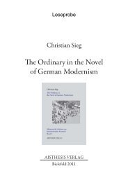 The Ordinary in the Novel of German Modernism