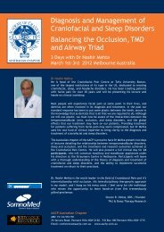 Diagnosis and Management of Craniofacial and Sleep Disorders ...