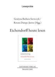 Eichendorff heute lesen