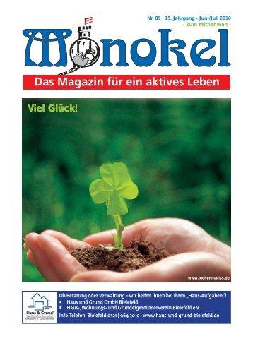 Viel Glück! - Monokel - Das Magazin für ein aktives Leben