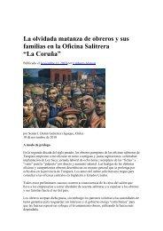 La Matanza en la Oficina Salitrera La Coruña - Luis Emilio Recabarren