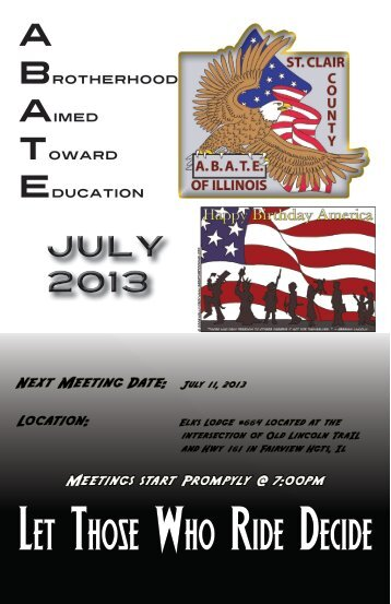 July - ABATE of Illinois