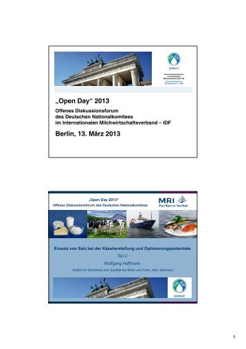"""Open Day"" 2013 Berlin, 13. März 2013 - IDF Germany"