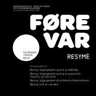 Her finner du et resyme av Føre Var rapporteringen ... - KoRus Bergen