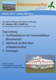 Ausgabe Oktober 2013 (PDF) - Allmannsweiler