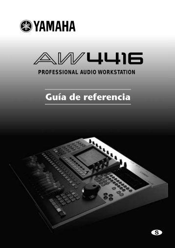 AW4416 Reference Guide_S - Yamaha