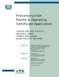 Preconstruction Permit & Operating Certificate Application - Precaution