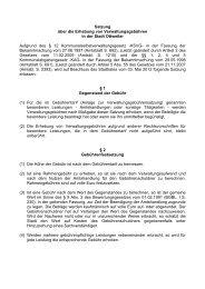 Satzung über die Erhebung von Verwaltungsgebühren in ... - Ottweiler