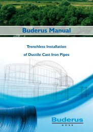 Buderus Manual on Trenchless Installation of Ductile Cast ... - Duktus