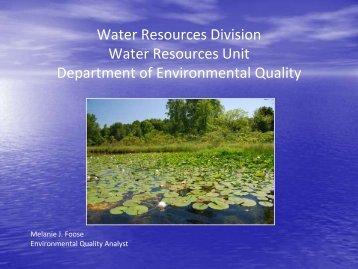 Wetlands presentation - Huron River Watershed Council